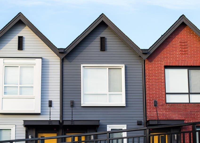 Row houses in suburbia